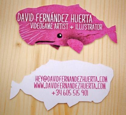 The Pink Whale Business Card
