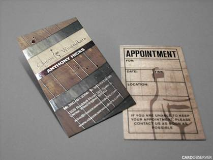 Wine Barrel Skin Business Card