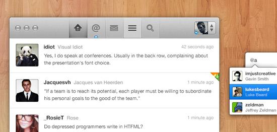 Twitter App Concept (PSD)