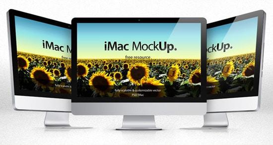 iMac Psd Mockup Template