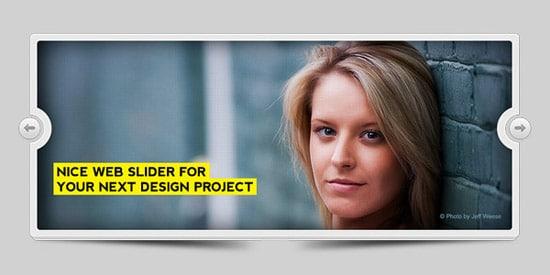 Modern image slider (PSD)