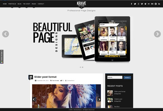 Krave - Responsive WordPress Modern Theme