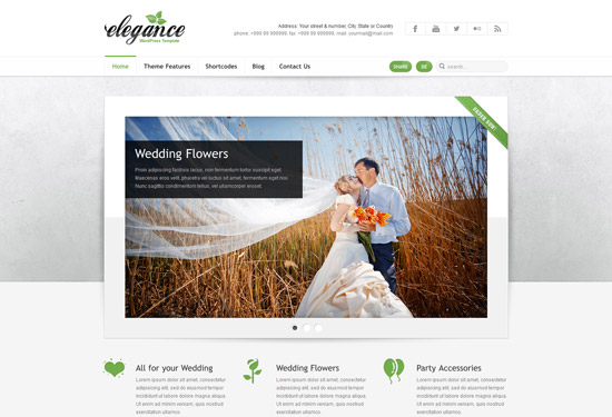 Elegance: Clean and Modern WordPress Theme