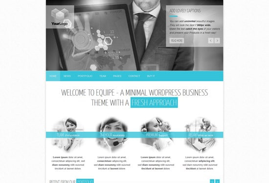 Equipe - Responsive Business WordPress Theme