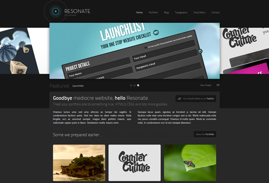 Resonate - Creative WordPress Theme