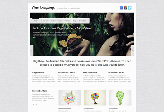 One Company - Responsive Business WordPress Theme