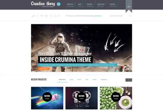 Creative Theory — Responsive Business WordPress Theme