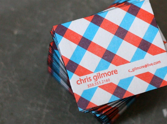 Plaid Business Cards