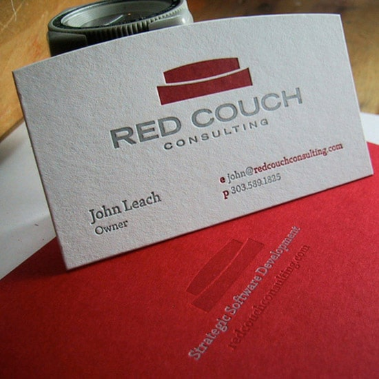 Custom Red Letterpress