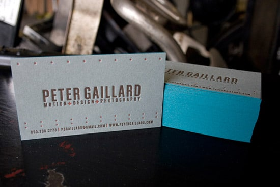 50 wickedly fantastic business card designs designrfix french blue letterpress cards reheart Images