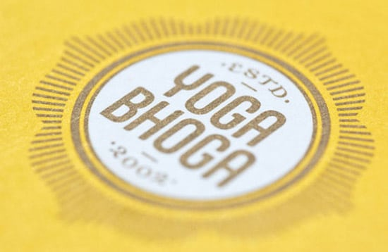 Yoga Bhoga Business Card