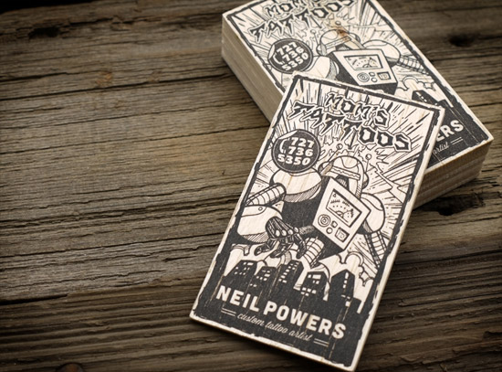 Mom's Tattoos | Letterpress Business Cards