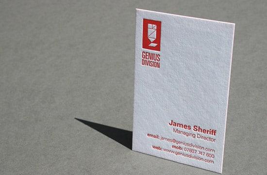 Red Letterpress Business Card