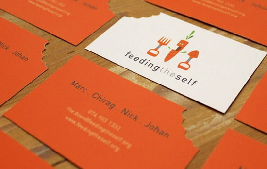 Orange Business Cards