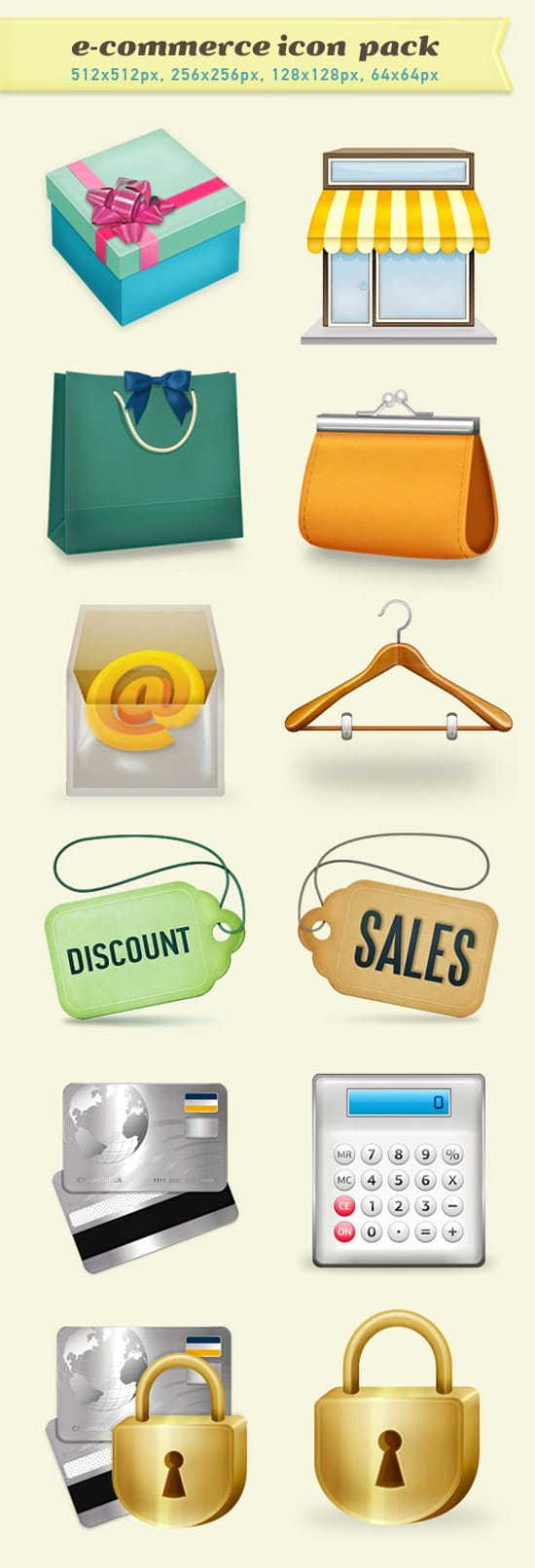 Freebies: Professional E-Commerce Icons Set