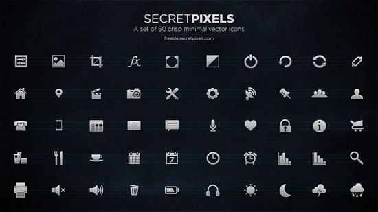 50 crisp minimal vector icons