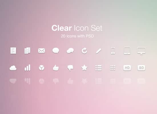 Clear Icon Set (PSD)