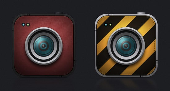 8 cameras icons (psd file)