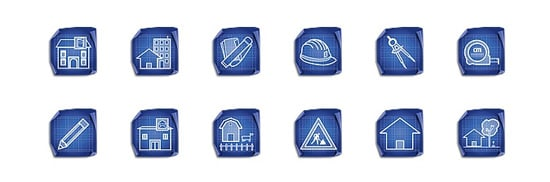 Architecture Blueprint Icon Set