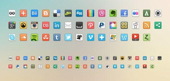 41 Social Media Icons (PNG)