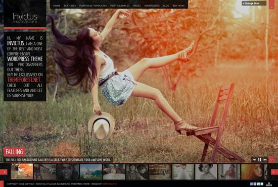 Invictus - A Premium Photographer Portfolio Theme
