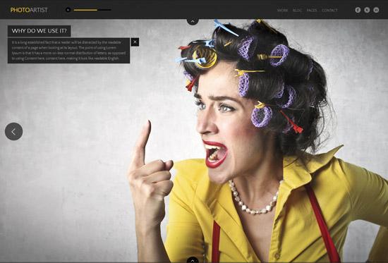 PhotoArtist - Photo Showcase HTML Theme