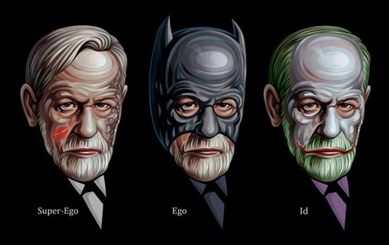 The Dark Knight Sigmund Freud. Poster for Tss