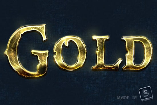 Create a Shiny, Gold, Old World Text Effect in Photoshop