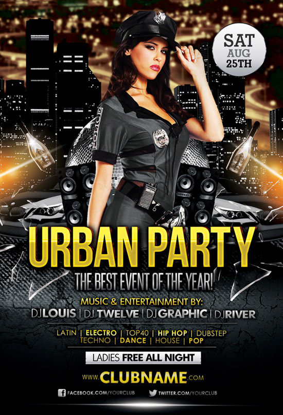 FREE Urban Party | Flyer + Facebook Cover