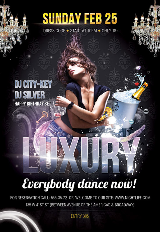 Free Flyer PSD Template - Luxury