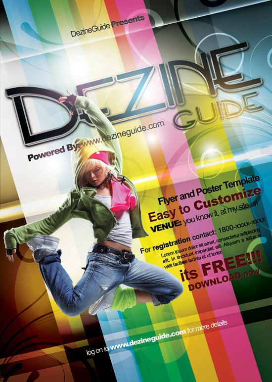 Download Free Dezine Flyer/Poster Template