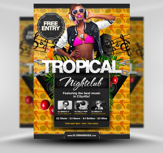 Tropical Summer Flyer Template