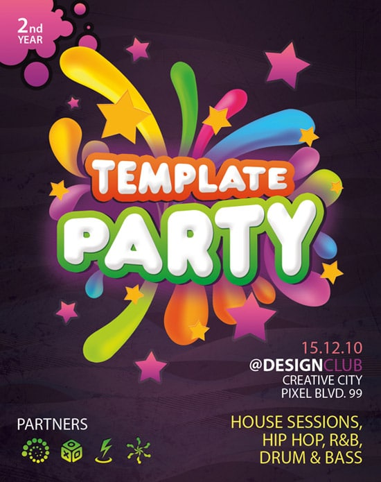 art flyer templates free