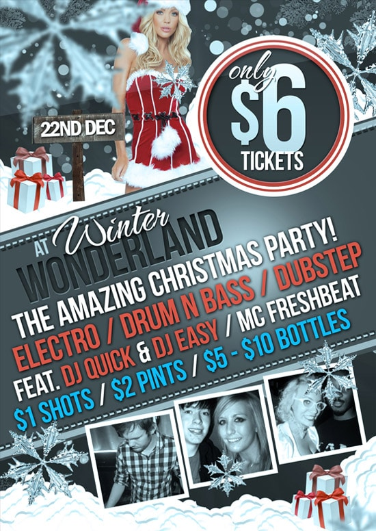 Winter Wonderland Christmas Flyer