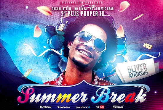 Free PSD Summer Break Flyer Template