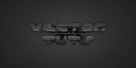 Create a Dark Text Effect, Using 3D Extrude & Bevel