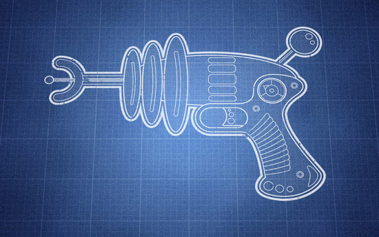 How To Create a Vector Linework Ray Gun Illustration