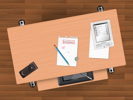 Create a Students Desk in Top View Using Simple Shapes and Textures