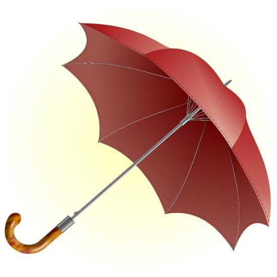 Use a Basic Polygon, 3D Rotate & Gradients to Illustrate an Umbrella