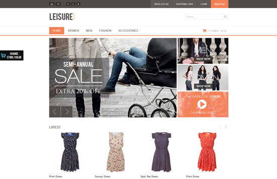 Leisure - Responsive HTML5 OpenCart Theme