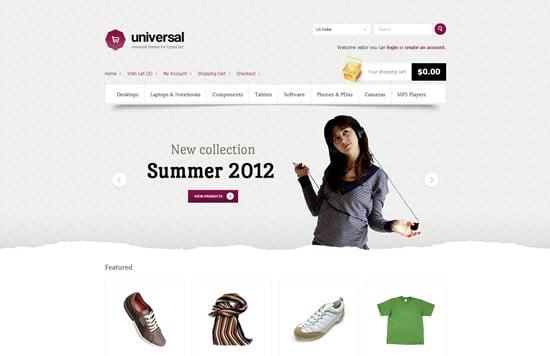 Universal - premium theme for opencart