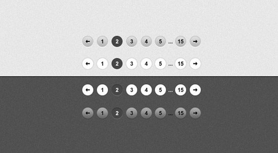 Download More Than 20 Free Pagination PSD Files