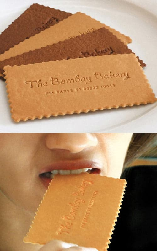 business card edible