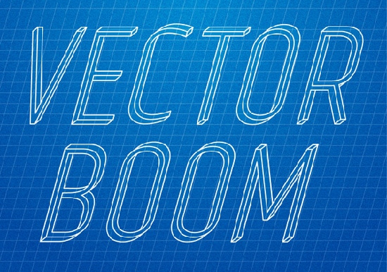 How to Create Impossible Text and Apply Blueprint Effect to It in Illustrator
