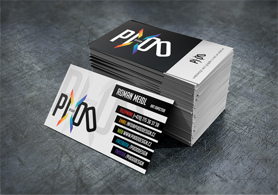 pixoo design - Business Card Design Inspiration