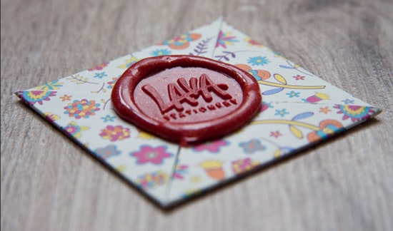 lava business card