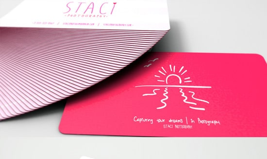 staci photography business card