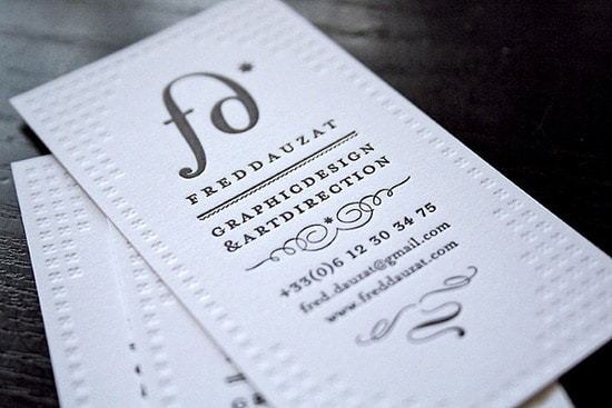 My own business cards / Letterpress