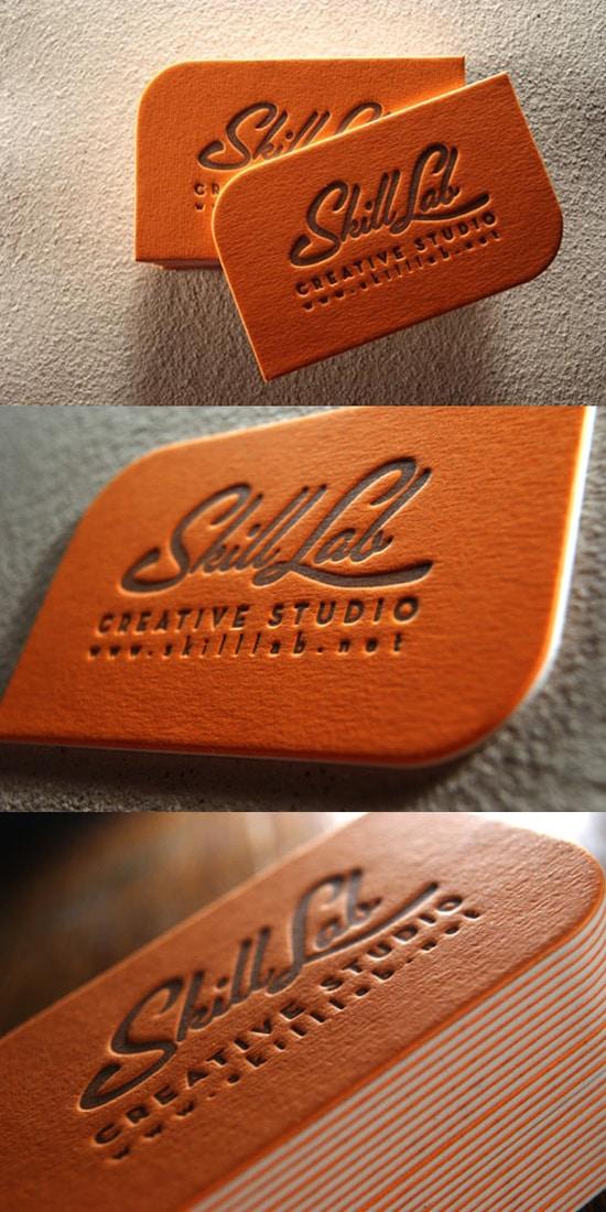 Bold Orange Letterpress