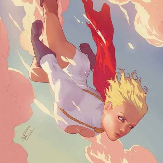 Power Girl - iPad Wallpaper